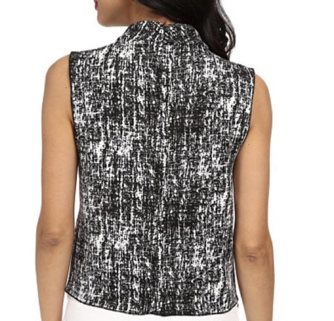 Vince Camuto Crop Top Black & White