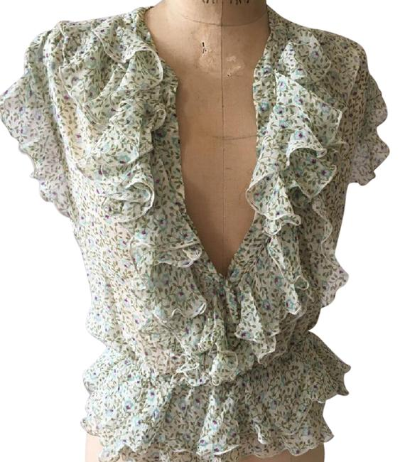 Preload https://item4.tradesy.com/images/anthropologie-green-floral-ruffle-blouse-size-10-m-21559508-0-2.jpg?width=400&height=650