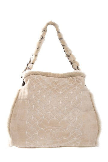 Preload https://item1.tradesy.com/images/chanel-quilted-shearling-chain-link-ivory-shoulder-bag-21559580-0-1.jpg?width=440&height=440