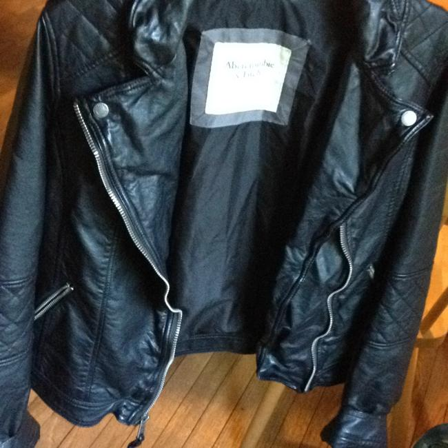 Abercrombie & Fitch black Leather Jacket