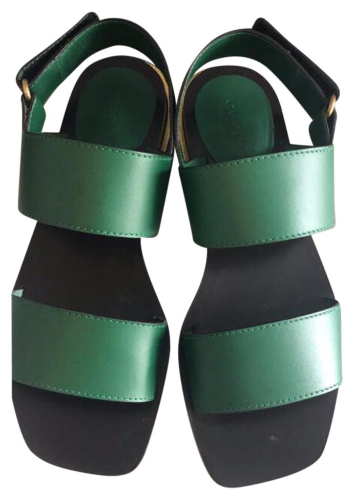 c27b515694a564 Gucci Green Leather Sandals Size US 6 Regular (M