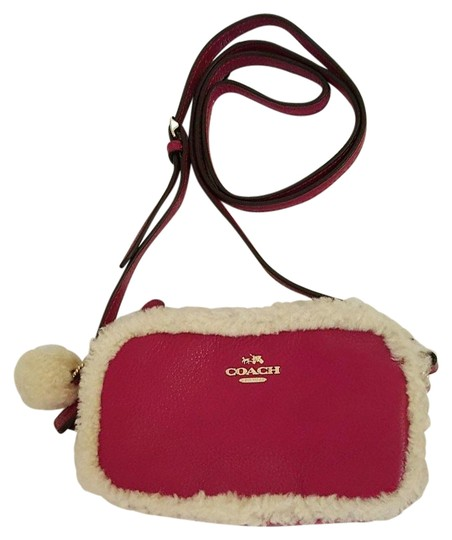 Preload https://item3.tradesy.com/images/coach-shearling-slate-pouch-f64706-cranberrynatural-leather-cross-body-bag-21559797-0-2.jpg?width=440&height=440