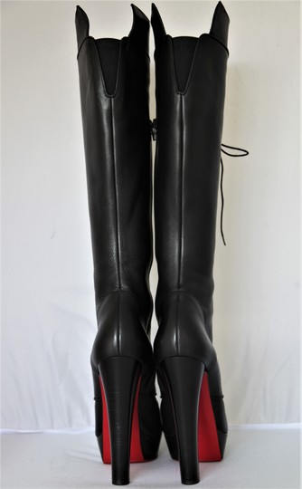 Christian Louboutin Pigalle Ankle Thigh High Over The Knee Black Boots