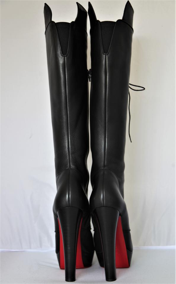 9e4e7d09dd89 Christian Louboutin Pigalle Ankle Thigh High Over The Knee Black Boots  Image 11. 123456789101112