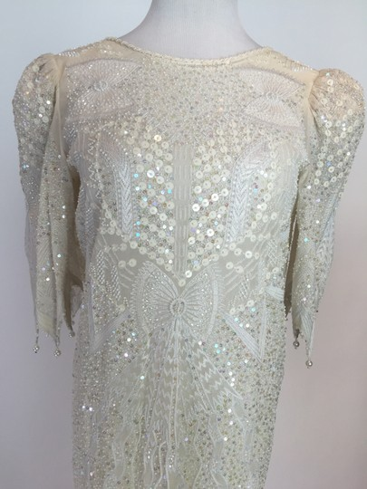 Ivory Beaded Vintage Wedding Dress Size 6 (S) - Tradesy