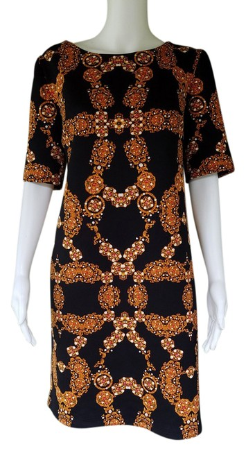 Preload https://item4.tradesy.com/images/black-gold-jewelry-print-short-workoffice-dress-size-8-m-21559893-0-2.jpg?width=400&height=650