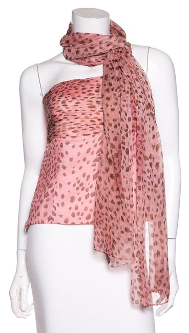 Preload https://item5.tradesy.com/images/dana-buchman-pink-strapless-silk-animal-night-out-top-size-4-s-21559944-0-2.jpg?width=400&height=650