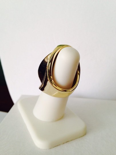 Other Embellished by Leecia Faceted Red Resin & Gold Statement Ring, Size 6 Image 4