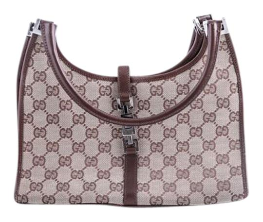 Preload https://item5.tradesy.com/images/gucci-monogram-canvas-leather-brown-shoulder-bag-21560104-0-2.jpg?width=440&height=440