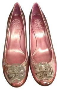 Tory Burch Leather maroon Wedges