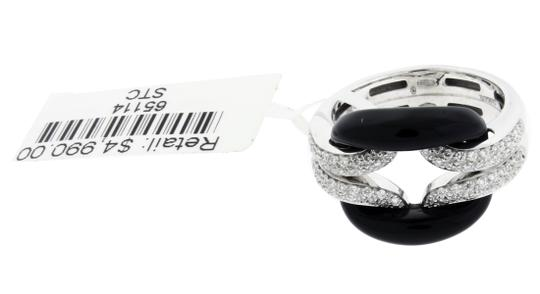 Damiani's Damiani D Lace .42 carat VS-F pave diamond & black onyx ring size 7.25