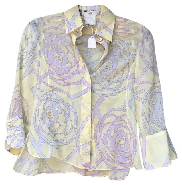 Preload https://item5.tradesy.com/images/chanel-pastel-cropped-button-down-top-size-4-s-21560244-0-2.jpg?width=400&height=650