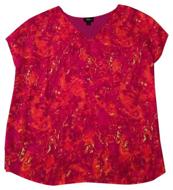 Preload https://img-static.tradesy.com/item/21560286/mossimo-supply-co-red-oversized-watercolor-slouchy-soft-blouse-size-12-l-0-2-650-650.jpg