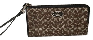 Coach Coach Coated Canvas Large zip Wallet Wristlet 52462