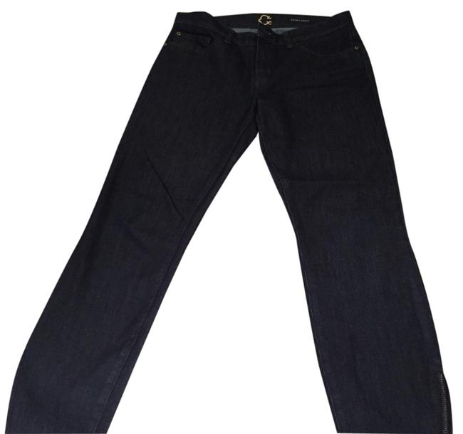 C. Wonder Straight Leg Jeans-Dark Rinse