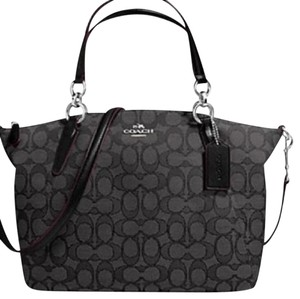 Coach New With Tags Signature Satchel in Smoke / Black
