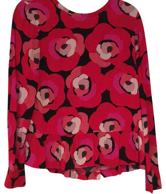Preload https://img-static.tradesy.com/item/21560746/kate-spade-red-and-black-blouse-size-8-m-0-2-650-650.jpg