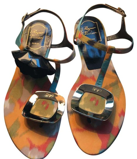 Preload https://img-static.tradesy.com/item/21560759/roger-vivier-multicolored-orange-yellow-green-lilac-red-teal-black-chips-thong-sandals-size-us-85-re-0-1-540-540.jpg