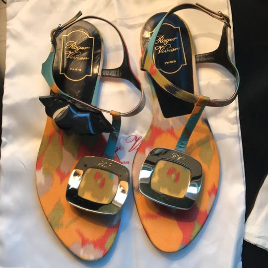 Roger Vivier Multicolored: Orange, Yellow, Green, Lilac, Red, Teal, Black Sandals