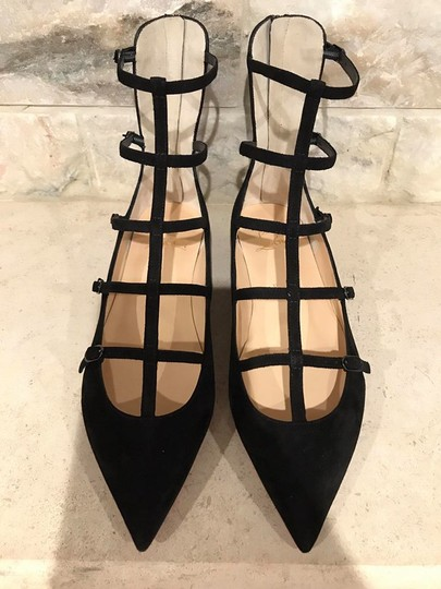 Christian Louboutin Toerless Muse Strappy Ankle Strap black Flats