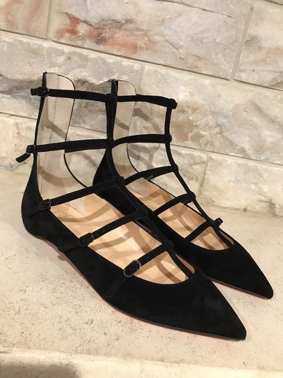 Christian Louboutin Toerless Muse Ankle Strap Strappy black Flats