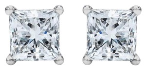 Other ** NWT ** PRINCESS-CUT SOLITARE 14K GOLD ( 1.50 CT ) STUD EARRINGS