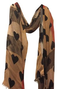 Burberry Heart and check cashmere scarf