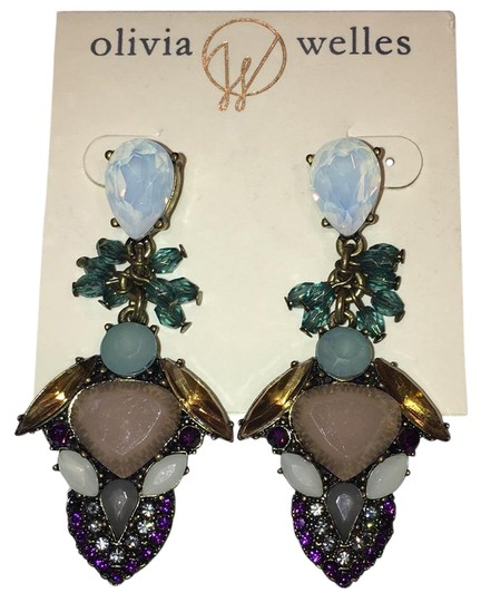 Preload https://item5.tradesy.com/images/olivia-welles-burnished-gold-plated-crystal-and-stone-14kt-and-detailed-drop-earrings-21561274-0-1.jpg?width=440&height=440