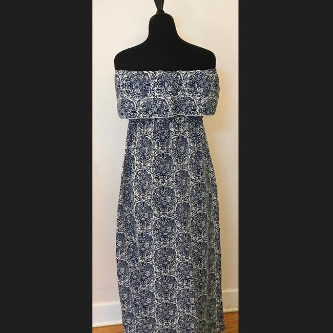 Boho Chic short dress Blue and White on Tradesy
