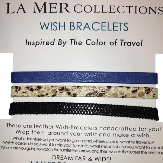 Preload https://item5.tradesy.com/images/la-mer-black-snake-and-blue-collections-wish-bracelet-21561574-0-2.jpg?width=440&height=440