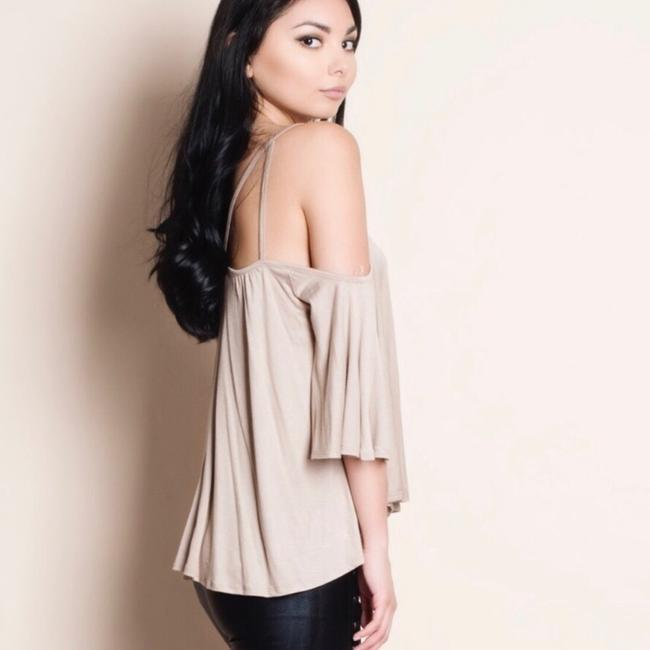 Heart Hips Top Taupe