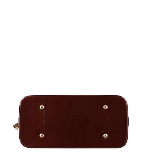 Louis Vuitton Patent Leather Satchel in Red