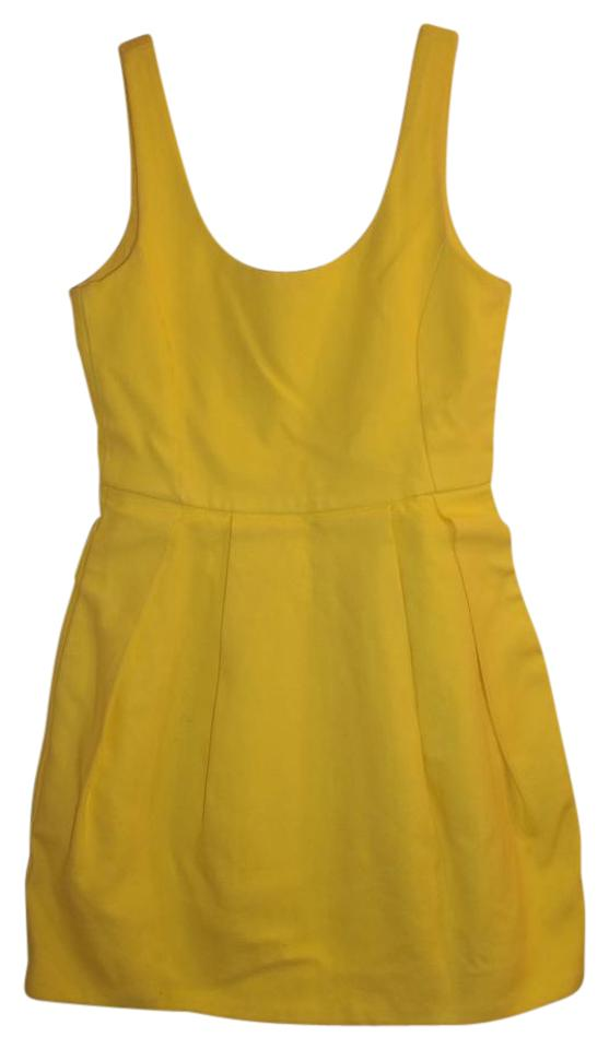 2551f943a53 Zara Yellow Rn 77302 Short Casual Dress Size 4 (S) - Tradesy