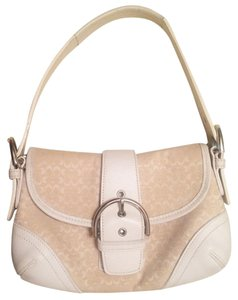Coach Cream Leather Shoulder Bag
