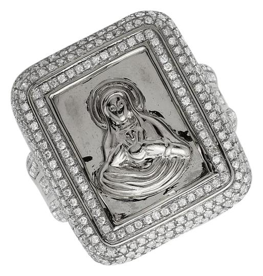 Preload https://item3.tradesy.com/images/10k-white-gold-marry-pave-set-genuine-diamond-125ct-25mmx11mm-ring-21561747-0-2.jpg?width=440&height=440