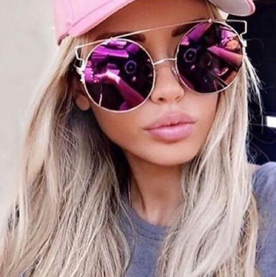 Tory's Timeless Treasures Boutique XXL Oversized Technologic Round Sunnies