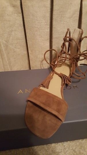 Ann Taylor Suede Spanish Chocolate Sandals