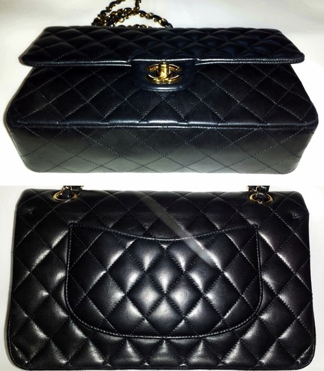 Chanel Medium Double Classic Flap Cc Logo Quilted Caviar Shoulder Bag