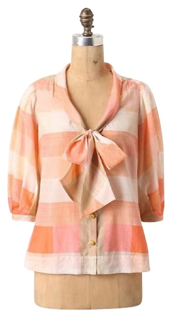 Preload https://img-static.tradesy.com/item/21562180/maeve-coral-pink-plaid-button-down-blouse-size-10-m-0-1-650-650.jpg