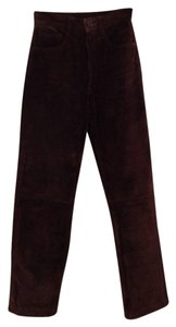 Arizona Jeans Company Leather Suede Straight Pants brown