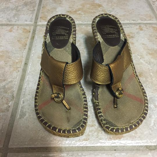 Burberry Sandals Sandals Thong Sandals Brown Wedges