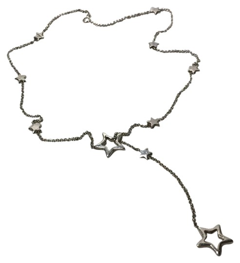 Preload https://img-static.tradesy.com/item/21562262/tiffany-and-co-silver-star-link-lariat-necklace-0-1-540-540.jpg