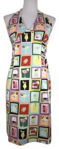 Janique short dress Multi Color Cotton Halter Sleeveless Print Summer on Tradesy
