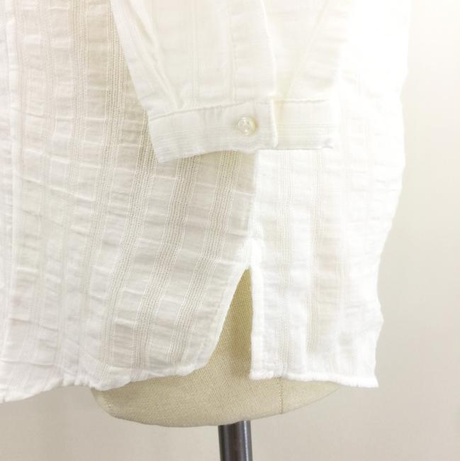 Massimo Dutti Washed Pop Over Vintage Bib Top White