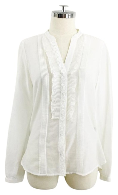 Preload https://item1.tradesy.com/images/massimo-dutti-white-ruffle-floral-applique-blouse-size-8-m-21562340-0-1.jpg?width=400&height=650