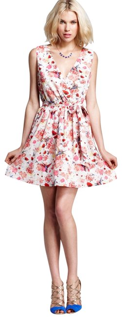 Preload https://item5.tradesy.com/images/french-connection-white-and-red-bird-flower-printed-short-casual-dress-size-10-m-21562364-0-3.jpg?width=400&height=650