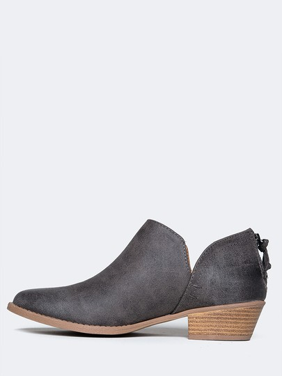 J. Adams Ankle Round Toe Sandals Pumps Grey Boots