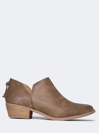 J. Adams Ankle Pumps Sandals Round Toe Taupe PU Boots