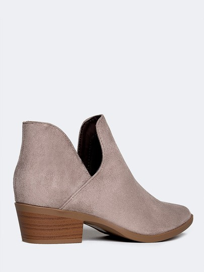 J. Adams Ankle Round Toe Sandals Low Heel Clay Boots