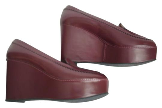 Preload https://item5.tradesy.com/images/robert-clergerie-red-burgundy-carven-ursule-platform-closed-toes-office-wedges-size-us-95-regular-m--21562539-0-1.jpg?width=440&height=440